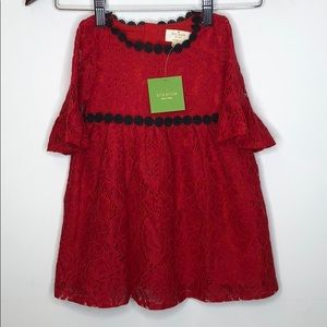 Kate Spade NWT Red Christmas Dress Holiday
